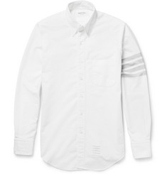 Thom Browne Printed Button-Down Collar Cotton Oxford Shirt