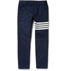 Thom Browne Slim-Fit Woven Cotton Trousers