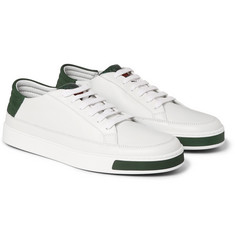 Gucci Suede and Watersnake-Trimmed Leather Sneakers