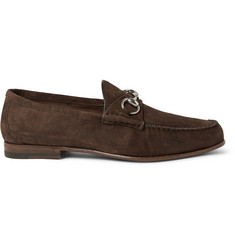 Gucci Horsebit Suede Loafers