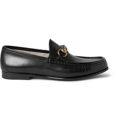 Gucci Horsebit Polished-Leather Loafers