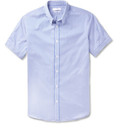Alexander McQueen Bengal Striped Cotton Short-Sleeve Shirt