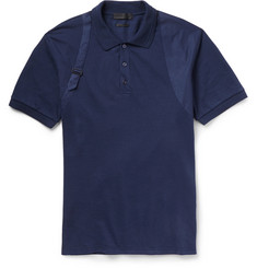 Alexander McQueen Harness-Detailed Cotton-Pique Polo Shirt