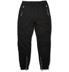 Alexander McQueen Cotton-Jersey and Linen-Blend Piqué Zipped Sweatpants