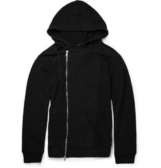 Alexander McQueen Cotton-Jersey and Linen-Blend Piqué Zipped Hoodie