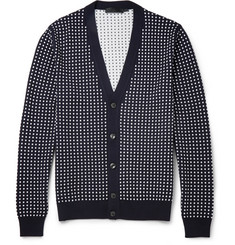 Alexander McQueen Polka-Dot Wool and Silk-Blend Cardigan