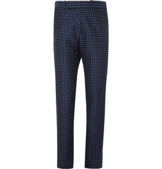 Alexander McQueen Slim-Fit Polka-Dot Cotton Trousers