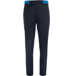 Alexander McQueen Slim-Fit Contrast-Waistband Cotton Chinos