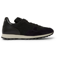 Alexander McQueen Mesh, Suede and Leather Sneakers
