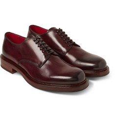 Alexander McQueen Burnished Leather Derby Shoes