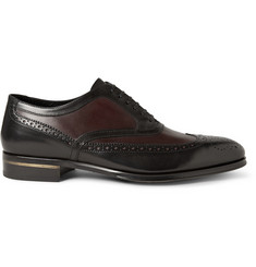 Alexander McQueen Two-Tone Leather Oxford Brogues