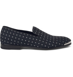 Alexander McQueen Polka-Dot Canvas Loafers
