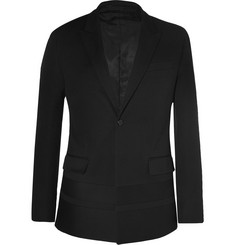 Givenchy Black Slim-Fit Cotton-Crepe Blazer