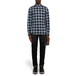 Givenchy Slim-Fit Star-Print Checked Cotton Shirt
