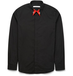 Givenchy Cuban-Fit Star-Embellished Cotton Shirt