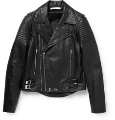 Givenchy Zip-Off Sleeves Leather Biker Jacket