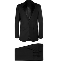 Givenchy Black Satin-Trimmed Wool Tuxedo