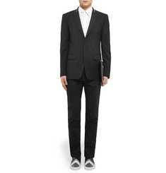 Givenchy Black Zip-Trimmed Wool Blazer