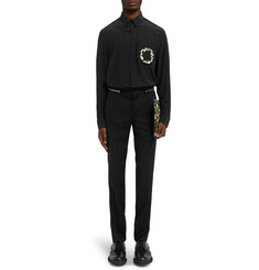 Givenchy Slim-Fit Zip-Embellished Wool Trousers