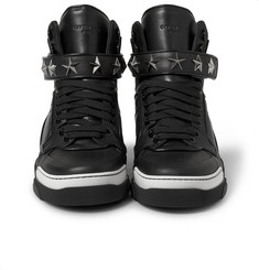 Givenchy - Tyson High Top Leather Sneakers with Stars