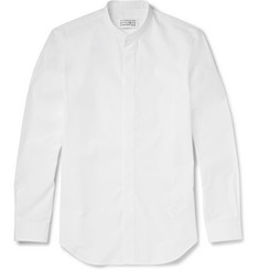 Maison Margiela Grandad-Collar Cotton-Poplin Shirt