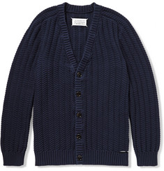 Maison Margiela Slash-Detailed Cotton Cardigan