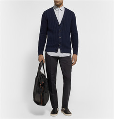 Maison Martin Margiela Slash-Detailed Cotton Cardigan