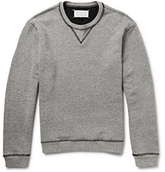 Maison Margiela Leather Elbow Patch Jersey Sweatshirt