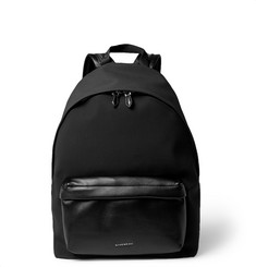 Givenchy Leather-Trimmed Coated Canvas Backpack