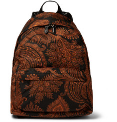 Givenchy Paisley-Print Canvas Backpack
