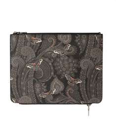 Givenchy Double Zip Printed Pouch