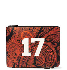 Givenchy Double-Zip Printed-Leather Pouch