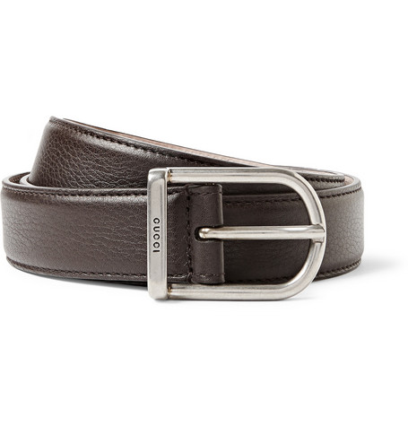 gucci 3cm brown leather belt mr porter