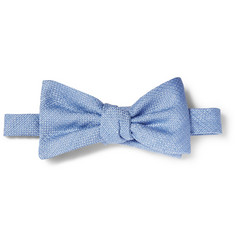 Gucci Linen and Silk-Blend Bow Tie