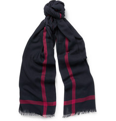 Gucci Striped Woven-Cotton Scarf