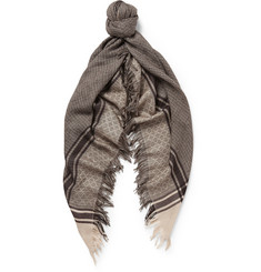 Gucci Wool and Silk-Blend Scarf