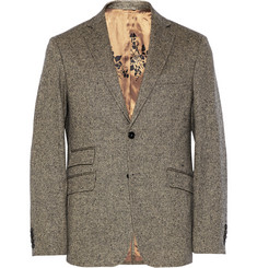 Billy Reid Grey Loring Slim-Fit Wool and Cashmere-Blend Tweed Suit Jacket