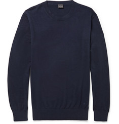 PS by Paul Smith Contrast-Tipping Cotton Crew Neck Sweater