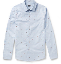 PS by Paul Smith Slim-Fit Embroidered Cotton Shirt