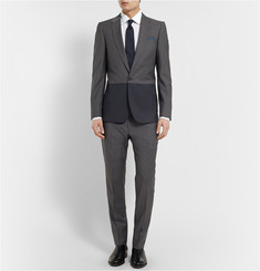 PS by Paul Smith Slim-Fit Two-Tone Wool and Mohair-Blend Jacket