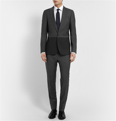 PS by Paul Smith Grey Slim-Fit Wool and Mohair-Blend Suit Trousers