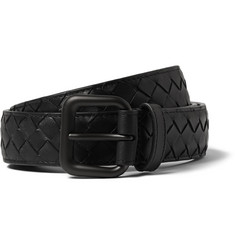 Bottega Veneta Black 3cm Intrecciato Leather Belt