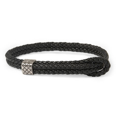 Bottega Veneta Intrecciato Leather Wrap Bracelet
