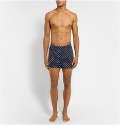 Derek Rose Nelson Lifebuoy-Printed Cotton Boxer Shorts
