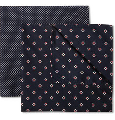 Derek Rose Two-Pack Cotton Pocket Squares