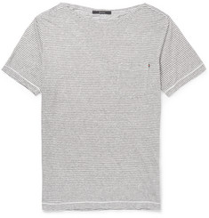 Gucci Striped Linen-Jersey T-shirt