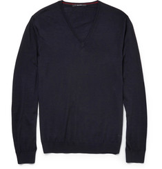 Gucci Slim-Fit V-Neck Wool Sweater