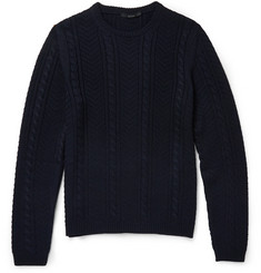 Gucci Cable-Knit Crew Neck Sweater