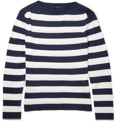 Gucci Striped Silk and Cotton-Blend Sweater
