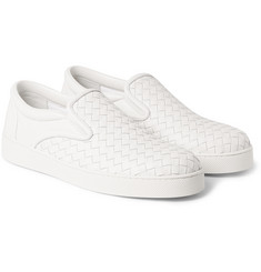 Bottega Veneta Intrecciato Leather Slip-On Sneakers